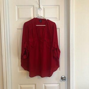 Torrid red blouse